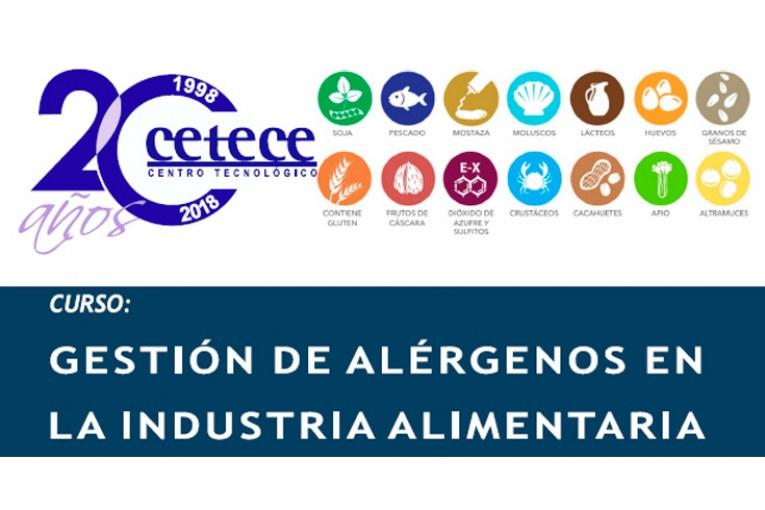Curso Gestión de alérgenos en la industria alimentaria
