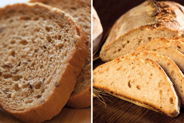 ¿El pan blanco y el pan integral tienen el mismo valor nutritivo?