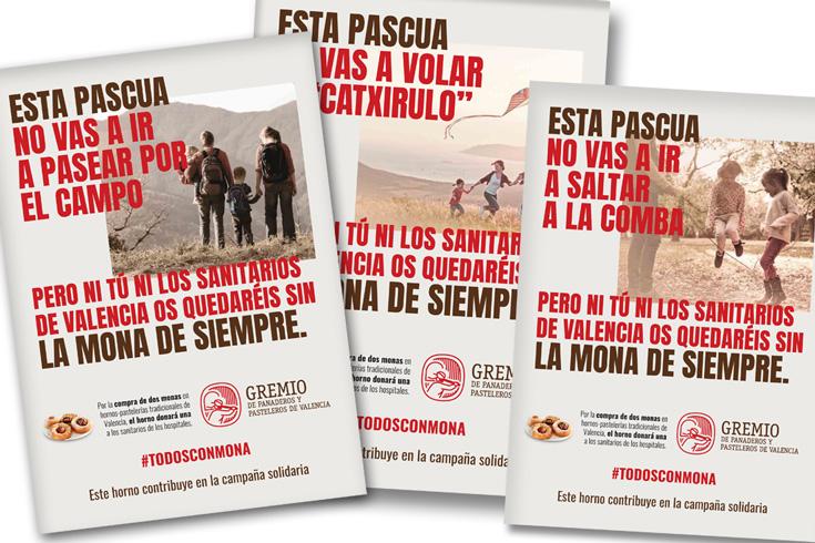 El gremio de panaderos de Valencia pone en marcha la campaña #TodosConMona