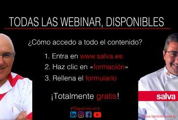 Todas las webinar Salva, disponibles gratuitamente en www.salva.es
