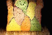 Pan de molde de verduras de cuatro masas y amapola